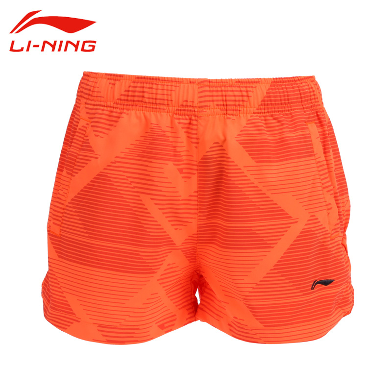 Li-Ning Womens Professional Badminton Shorts Elastic Waist Portable Tennis Shorts Li Ning Quick Dry Sports Shorts AKSK252