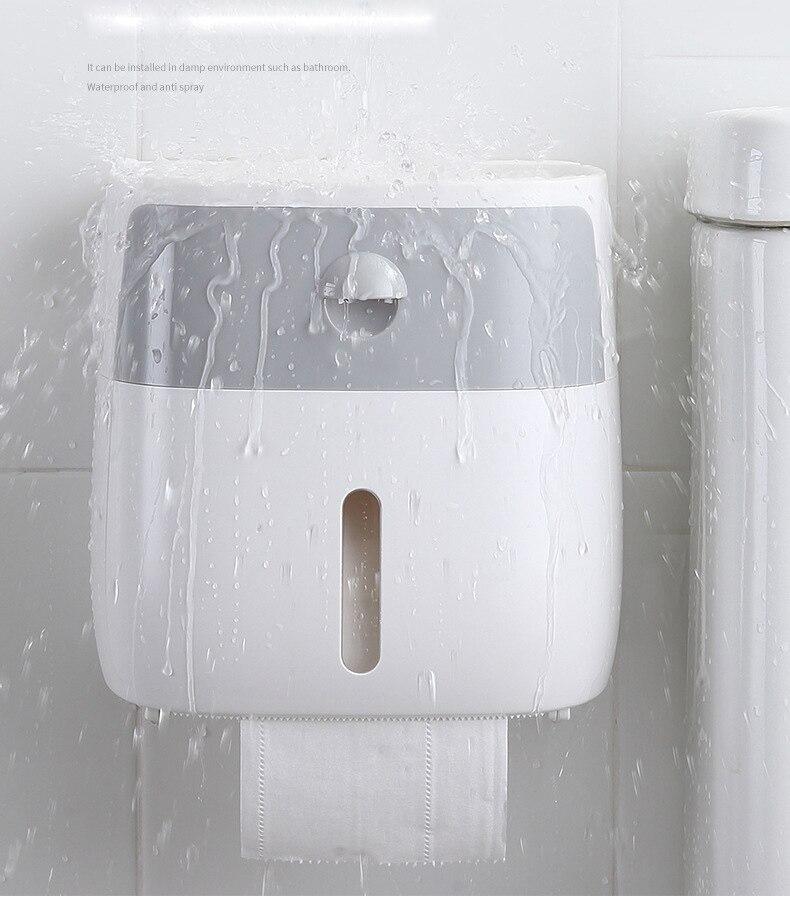Suporte de papel higiénico fixado na parede