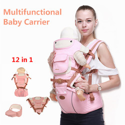 0-36 M Baby Carrier Backpack With Hipseat Kangaroo Prevent O-Type Legs 12 In 1 Ergonomic Baby Carriers Save Effort Kid Sling