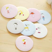 1pcs Fashion Lady Portable Makeup Mirror Cartoon Pattern Compact Pocket Cosmetic Mini Cute Small Creative