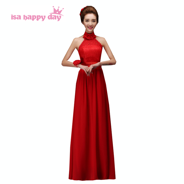 Goedkope lange rode jurk