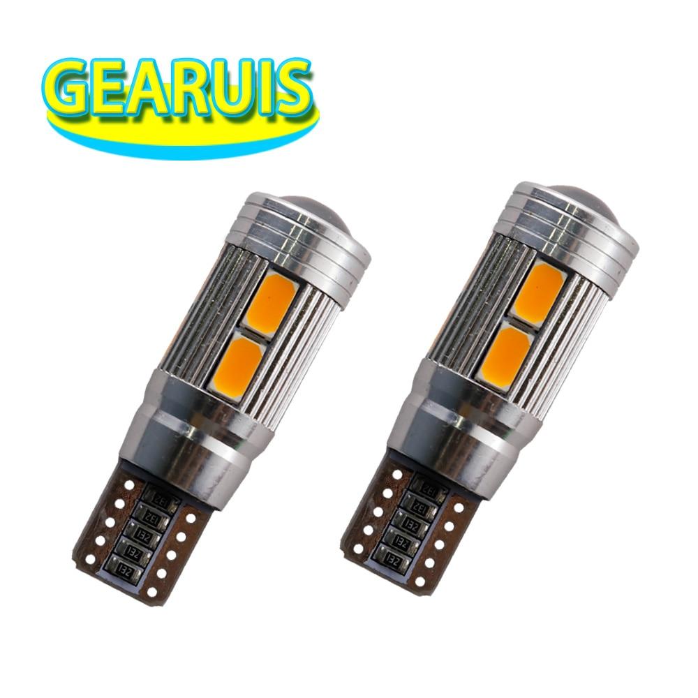 100pcs Car Styling Car LED T10 Canbus 194 W5W 10 SMD 5630 LED Light Bulb OBC