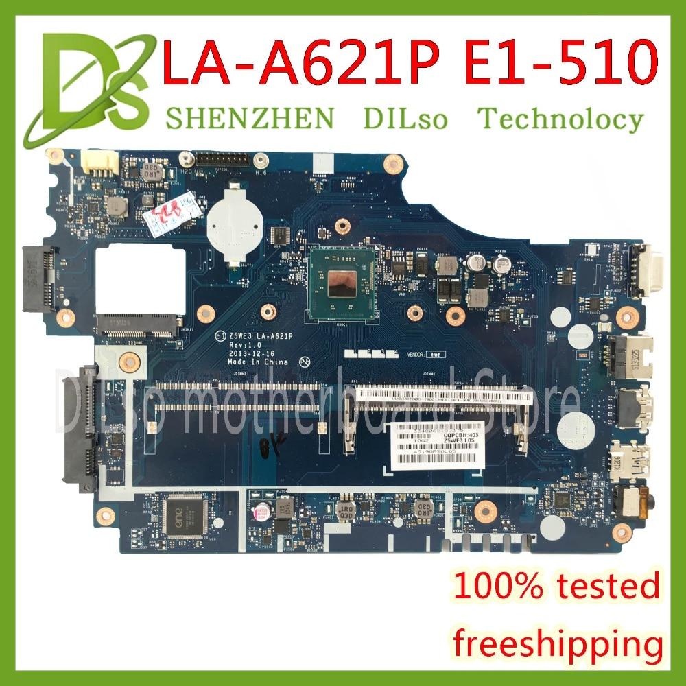 KEFU Z5WE3 LA-A621P mainboard For Acer aspire E1-510 E1-510-2500 laptop motherboard Test work 100% original цены