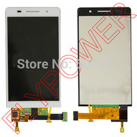100 Warranty LCD Display With Touch Screen Digitizer Complete For Huawei Ascend P6 White Color By
