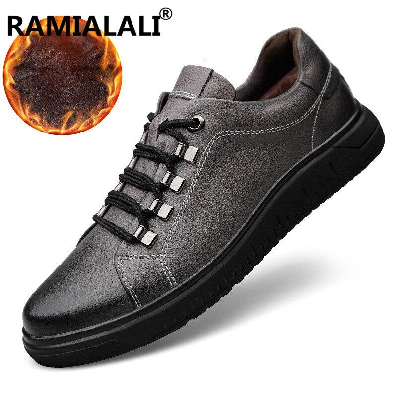 Botas 47 Impermeables De Para Genuino Negro Hombres Tamaño gris Tobillo Zapatos Cuero Los Casual 36 Invierno SEx4FqTw