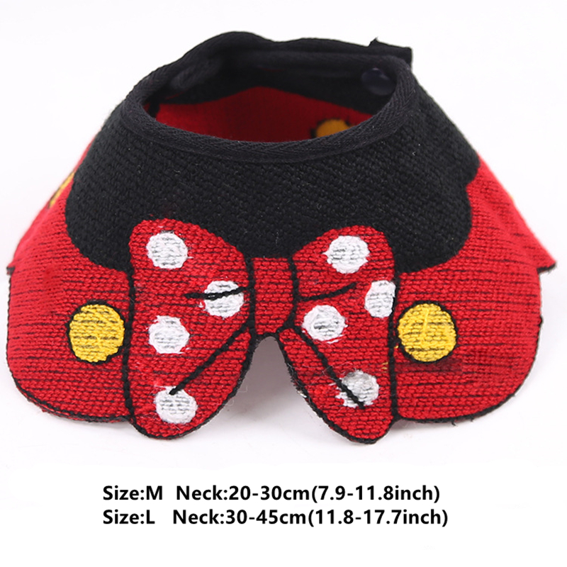 New Cat Dog Product French Bulldog Love Heart Bibs Scarf Collar Adjustable Neckerchief Saliva Towel Small Dogs Pets Accessories in Collars from Home Garden