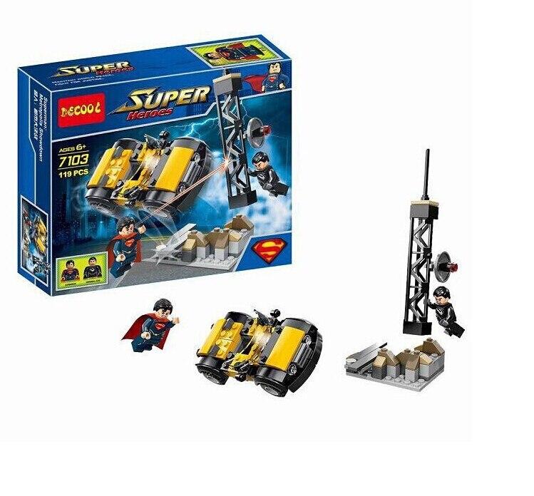 119pcs/sets decool 7103 LPGO batman vs Superman Metropolis Showdown building bricks compatible with superheroes
