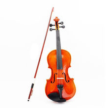 2Pcs 1/8 Size Acoustic Violin with Fine Case Bow Rosin for Age 3-6 M8V8
