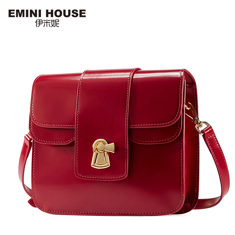 EMINI HOUSE Genuine Leather Flap Bag Women Messenger Bags Designer Handbags High Quality Shoulder Bag Crossbody Bags for Women genuine leather patckwork bags women casual messenger bag women s lady colorful zipper shoulder designer handbags high quality