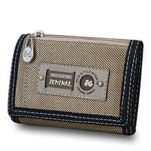 Мужские кошельки на застежке, на молнии, холщовые мужские кошельки, короткий кошелек, хорошее качество, для карт, ID, держатель, сумки для денег, клатч, портмоне, карман