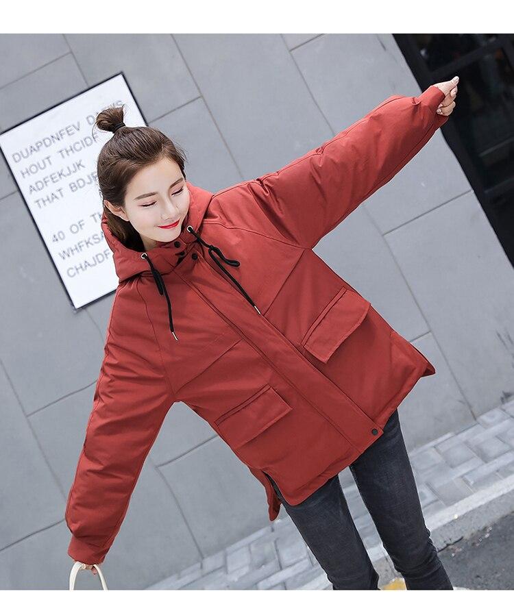 À Épais Parka Plus Capuchon Mujer Veste Mince Mode 3xl Paragraphe Taille Femmes Chaud Hiver De La Manteau orange red Black Rembourré Femme Coton Long xYf8qwX4Z