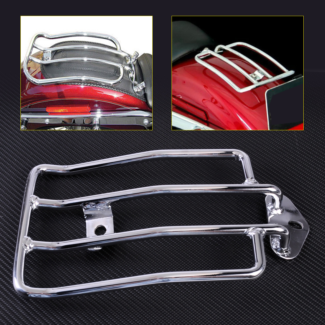 CITALL Silver Seat Luggage Shelf Carrier Support Rack for Harley Davidson Sportster 1200 883 with stock solo seat 2004-2011 2012 silver top roof rack rails luggage carrier bars for honda crv 2012 2013 2014 2015