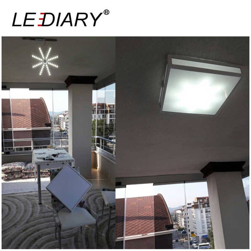 LEDIARY 2D Replaceable LED Light Source For Ceiling Lamp 12-24W 220V With Magnet Led Lights Replacement PCB With Driver