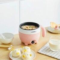 Ev Aletleri'ten Çok Amaçlı Pişiriciler'de Portable Electric Multicooker Non stick Fry Pan Mini Steamer Egg Boiler Hotpot Hot Pot Hot Porridge Noodle Maker Multi Cooker