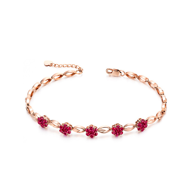 bracelet fl gemsny bracelets ruby sale natural for