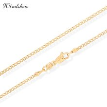 Children Boys Baby Kids Jewelry Yellow Gold Color Flat Curb Chain 14' Collar Short Choker Necklace Wholesale Best Birthday Gift(China)