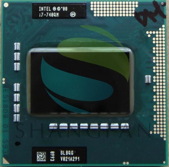 intel CPU laptop i7-740QM i7 740QM SLBQG 6M Cache 1.73GHz  PGA988 45W Laptop Compatible PM55 HM57 HM55 QM57