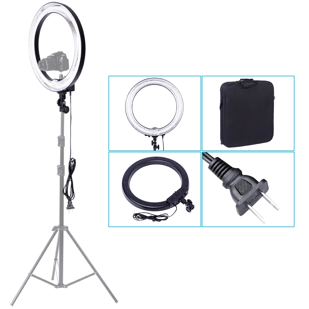 Neewer 600W 5500K Photographic Lighting Dimmable Camera Photo/Studio/Phone/Video Photography Ring Light Lamp 110V-130V US Plug fosoto rl 18 240led 5500k dimmable photography photo studio phone video ring light lamp
