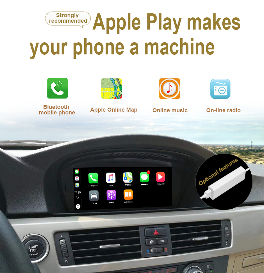20 Koason Android Auto GPS Stereo for BMW E60 3 series CIC 2009-2010