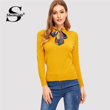 Vodiu Female Winter Women Sweaters And Pullovers Long Sleeve Patchwork Knitting Slim