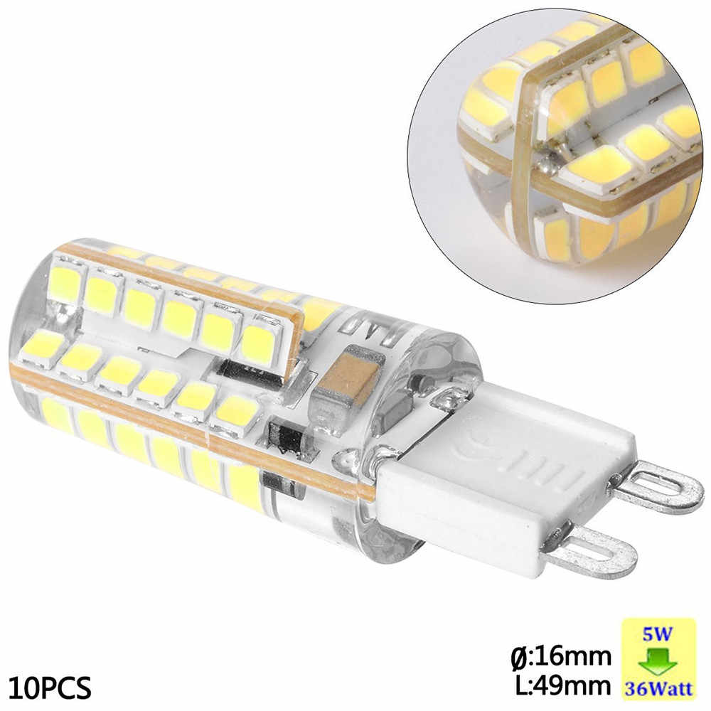 5 Watt Led 100 Pack 5 Watt Silicone Coated G9 Led Light Bulb 360 Degree Dimmable G9 Light Bulb 40w Equivalent 48pcs Epistar Smd 2835 Led G9