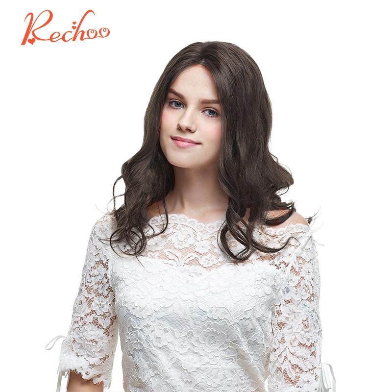 Rechoo машина сделала Реми клип в человеческих Химическое наращивание волос полной головки Малайзии Средства ухода за кожей волна Клип Ins #4 цв...