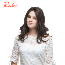 Rechoo Machine Made Remy Clip in Human Hair Extension Full Head Malaysian Body Wave Clip ins