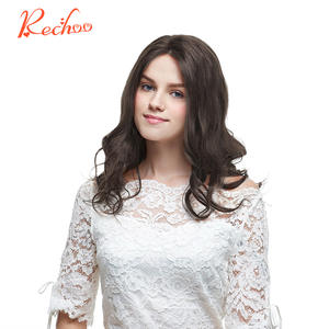 Rechoo Machine Remy Human Hair Extension Full Body Clip ins