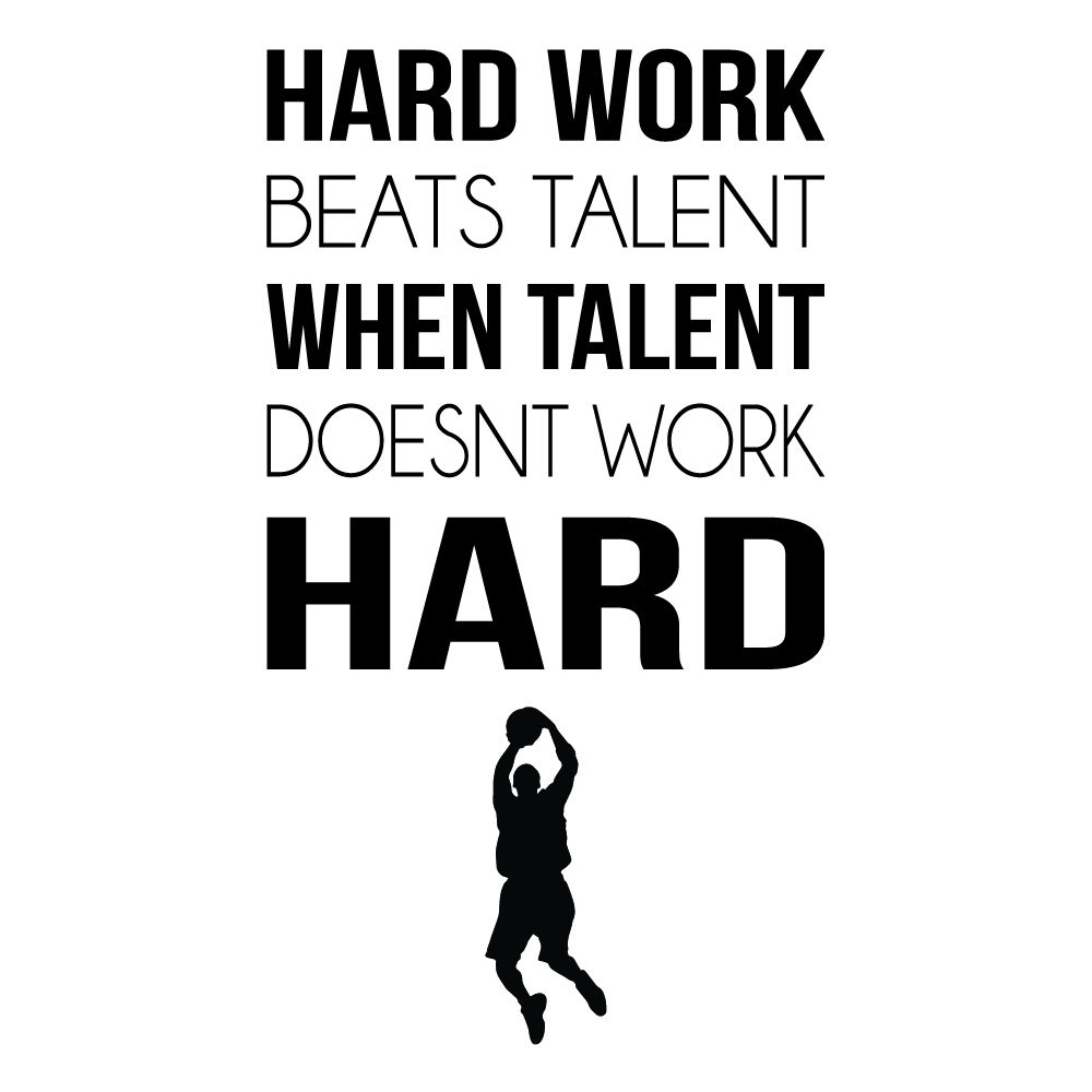Sports Quotes Unique Hard Work Sports Inspirational Quotes Wall Sticker Home Art Decals .