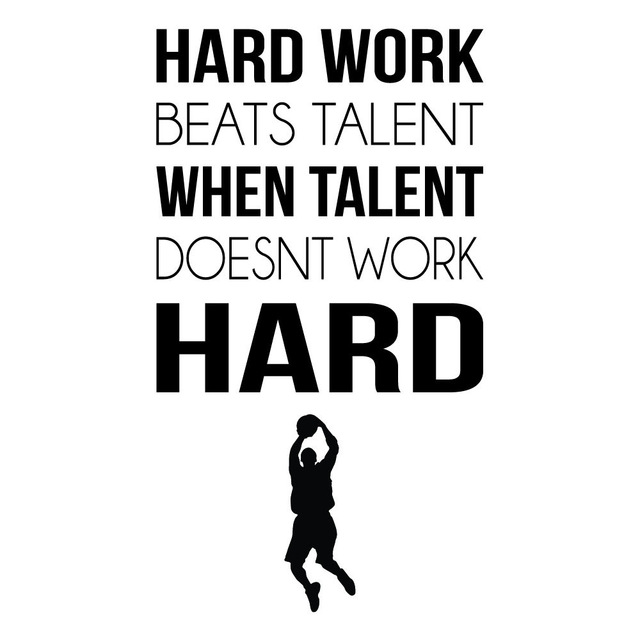 Hard work sports inspirational quotes wall sticker home art decals decor