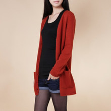 2019 new cardigan women spring autumn long cardigan lady cashmere material loose sweater for female outerwear coat with pockets