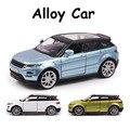 Aleación Modelo de Coche 1:35 Para Land Rover Evoque SUV Diecast Juguetes tire hacia atrás Del Vehículo de Recogida de Regalos Del Cabrito Supercar Modo FSWOB