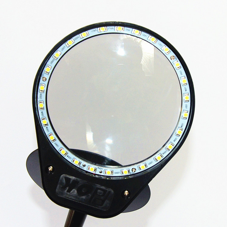 5X Small Loupe Magnifying Glass with Magnet Base Portable Gripping Magnifier Lamp 26pcs illuminating led Lights in Magnifiers from Tools