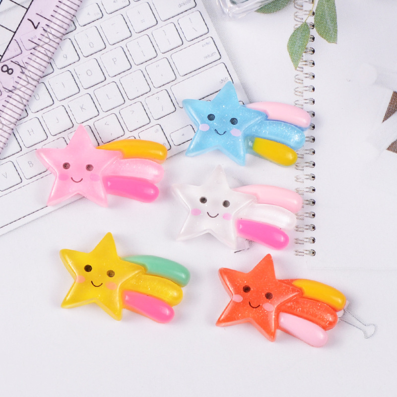1 Piece Cute Meteor Star Model Mini Statue Figurine Crafts Ornament Miniatures Phone Stationery Box Pendant Necklace Earring DIY in Figurines Miniatures from Home Garden
