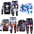 Fashion Men's hoodies sweatshirts for Jordan print 3d Sweatshirt hip hop hoodies men clothing set hoody + pants 2 piece
