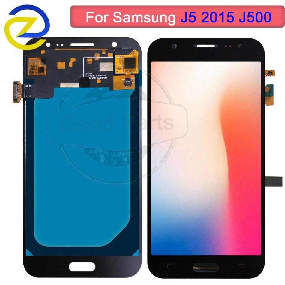 AMOLED pour SAMSUNG Galaxy J5 2015 J500 LCD écran tactile numériseur assemblée J500H J500FN J500F J500M SM-J500F écran lcd