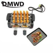DMWD бездымный Электрический раклетница гриль двухслойный антипригарный для жарки и Барбекю Сковорода сковорода мини барбекю плита машина жаровня ЕС