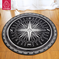 Round Coffee Table Rug Bedroom Living Room Carpet Den Office Bath Mat Slip Rugs And Carpets