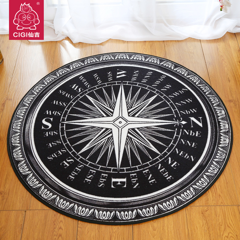 Round Coffee Table Rug Bedroom Living Room Carpet Den Office Bath Mat Slip Rugs And Carpets For