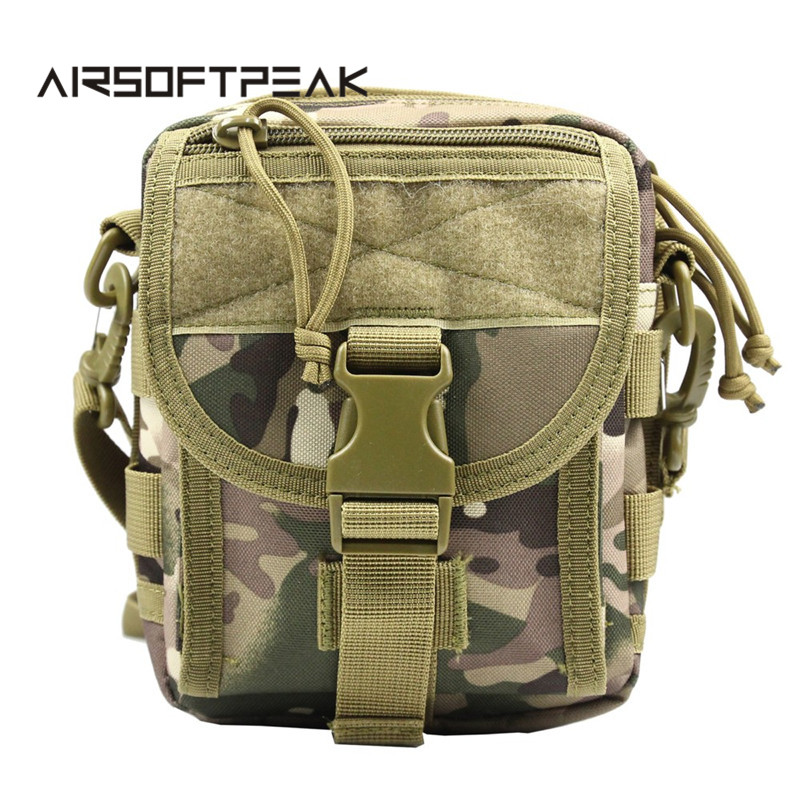 Tactical Molle Single Shoulder Bag Outdoor Sport Outdoor Hunting Camping Bag Military Camouflage 600D Nylon Cross Body Bags