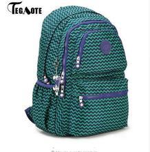 2017 TEGAOTE School Backpack for Teenage Girls Nylon Casual Mochila Feminine Backpacks Women Solid Famous Laptop Bagpack Female