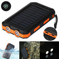 Waterproof 20000mAh Dual USB Portable Solar Charger Solar Power Bank For Phone Free shipping and wholesales