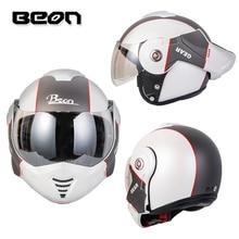 цена на BEON B-702 New Flip-up Motorcycle Helmet Modular Open Full Face Helmet Moto Casque Casco Motocicleta Capacete Helmets ECE