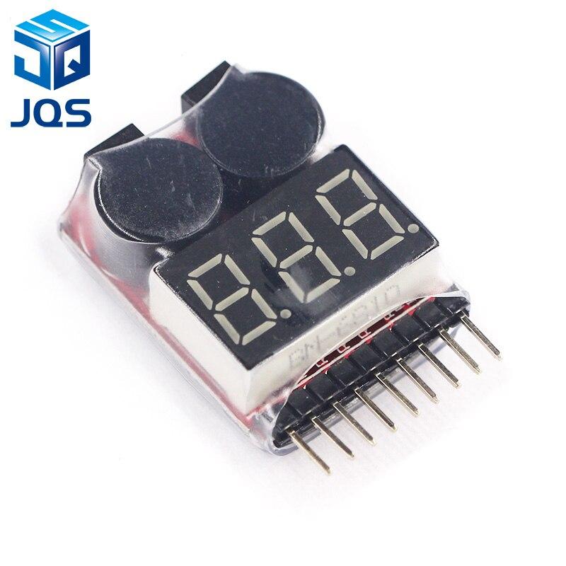 For 1-8S Lipo/Li-ion/Fe Battery Voltage 2IN1 Tester Low Voltage Buzzer Alarm