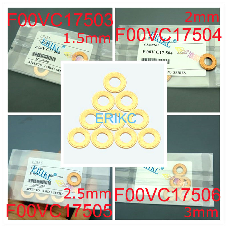 ERIKC Injector copper washer F00VC17505 F00VC17504 F00VC17503 9001-850C size range: 1.5mm 2mm 2.5mm 3mm image