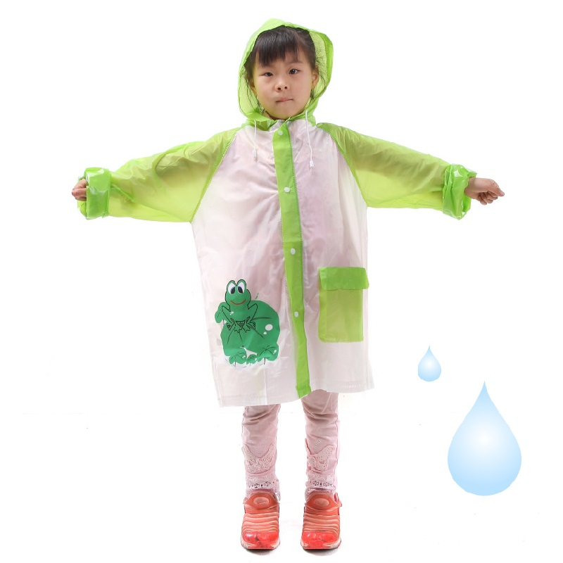 100pcs Student Raincoat Baby Children Cartoon Kids Girls Boys Rainproof Rain Coat Waterproof Poncho Rainwear Waterproof  ZA0728