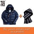 Tiger force moda masculina chaqueta de invierno parka abrigo de invierno gruesa de algodón acolchado chaqueta de poliéster downsulate europeo envío gratis