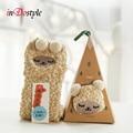 winter cute kawaii sock cartoon 3D animals elk sheep socks warm calentadores christmas socks in gift box free shipping air post
