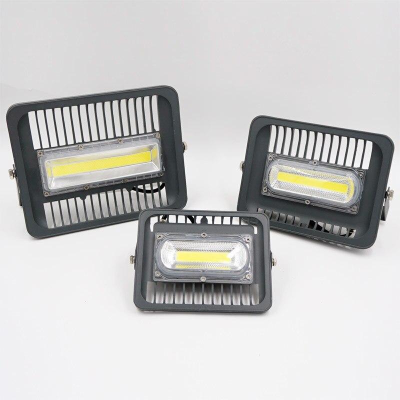Светодиодный прожектор 30 Вт 50 Вт 100 Вт 110 В 220 В IP65 водонепроницаемый Smart IC драйвер прожектор Открытый бра холодный белый теплый белый ЕС Pulg