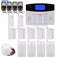 DIY GSM Mobile SIM Home Intruder Alarm System Gap PIR Glass Vibration Sensor Keyfobs